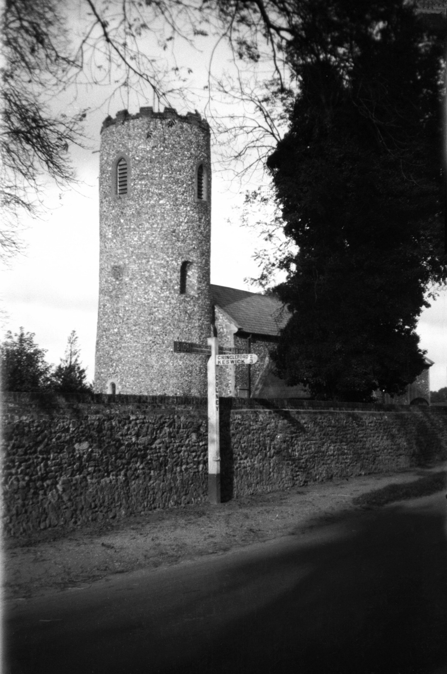 Norfolk Picture Index By Date Skeleton Tower 7093 Colney St Andrews Church From Sw B200
